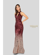 Terani Couture Terani Couture 1911P8177, Color: Wine/Rose/Silver, Size: 12