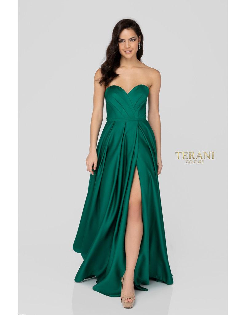 Terani Couture Terani Couture 1911P8179, Color: Emerald, Size 16