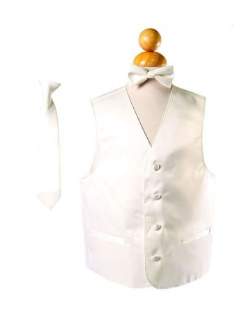 Calla Collection USA INC. BOY'S VEST 3 PC SET - VEST, NECK TIE, BOW TIE Beige 4 vs1010boys