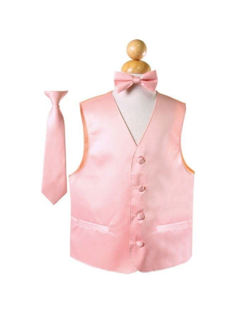 Calla Collection USA INC. Calla Collection Boy's Vest 3 Pc Set VS1010Boys, Color: Dusty Pink, Size: 8