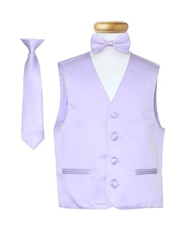 Calla Collection USA INC. Calla Collection Boy's Vest 3Pc Set VS1010Boys, Color: Lavender, Size: 12