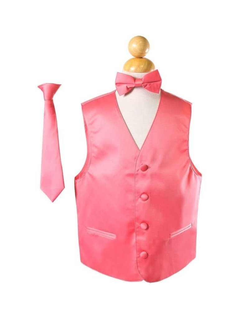 Calla Collection USA INC. Calla Collection Boy's Vest 3 Pc Set VS1010Boys, Color: Peach, Size: 14