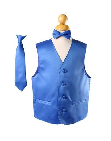 Calla Collection USA INC. Calla Collection Boy's Vest 3Pc Set VS1010Boys, Color: Royal Blue, Size: 8