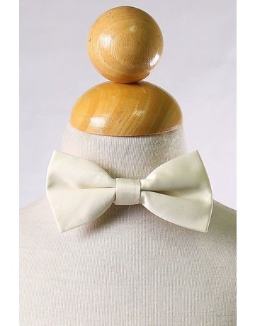 Calla Collection USA INC. Calla Collection Boy's Polyester Satin Bow Tie bowtie-b, Color: Beige