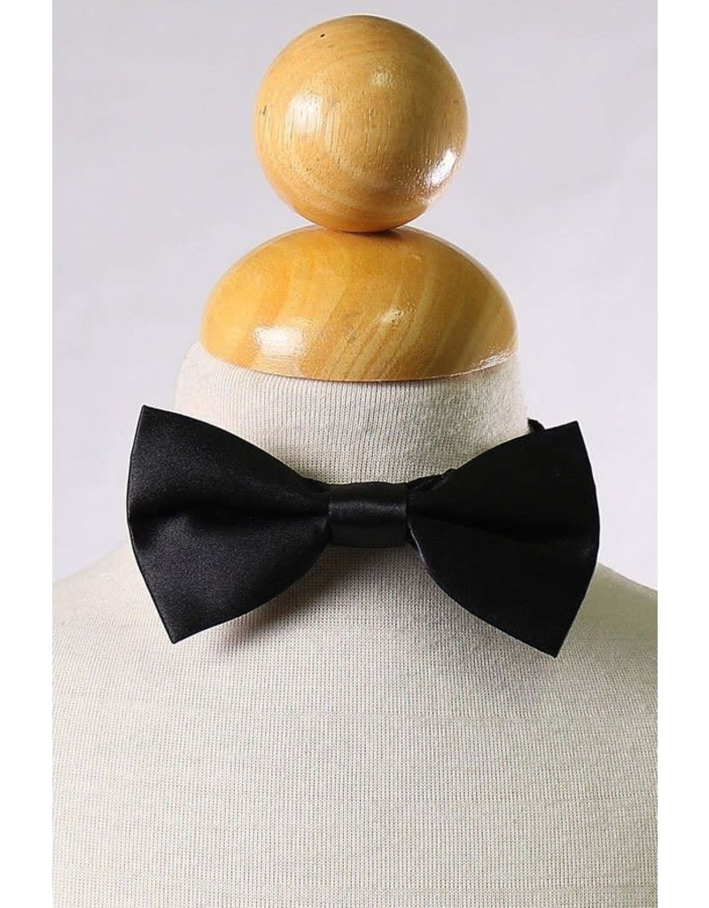 Calla Collection USA INC. Calla Collection Boy's Polyester Satin Bow Tie bowtie-b, Color: Black