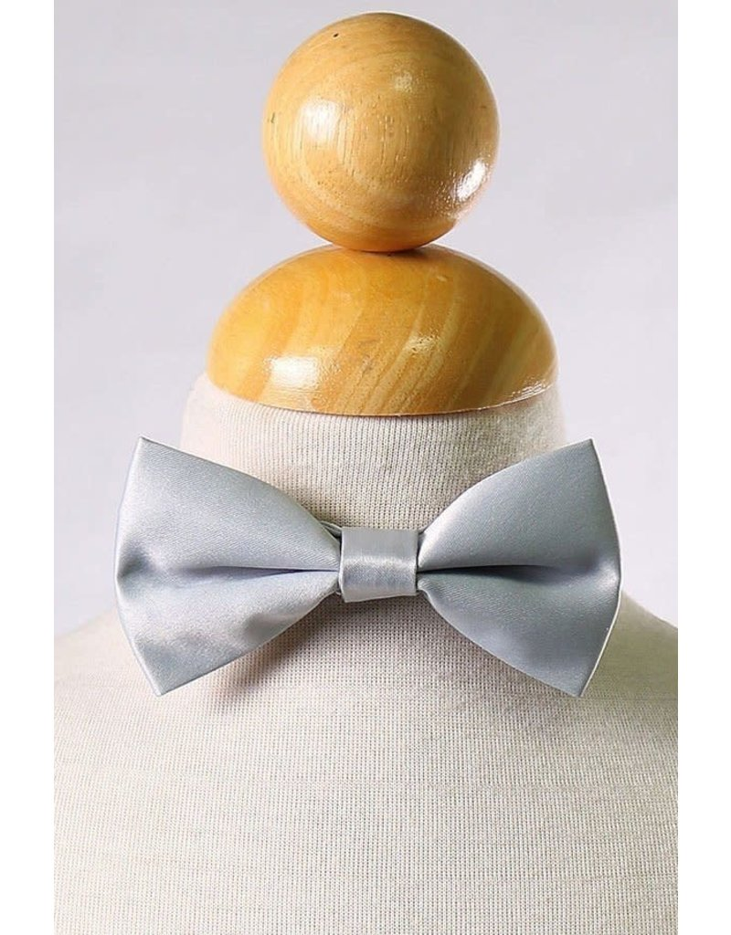 Calla Collection USA INC. Calla Collection Boy's Polyester Satin Bow Tie bowtie-b, Color: Silver