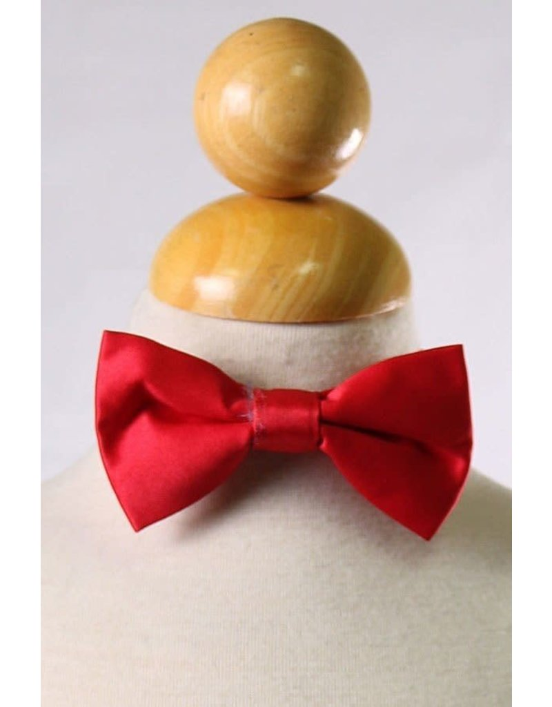 Calla Collection USA INC. Calla Collection Boy's Polyester Satin Bow Tie bowtie-b, Color: Red