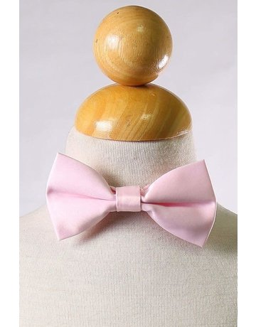 Calla Collection USA INC. Calla Collection Boy's Polyester Satin Bow Tie bowtie-b, Color: Pink