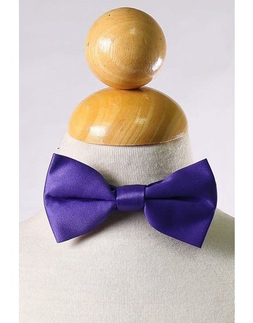 Calla Collection USA INC. Calla Collection Boy's Polyester Satin Bow Tie bowtie-b, Color: Purple