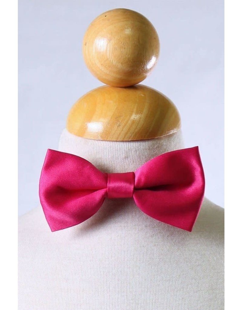 Calla Collection USA INC. Calla Collection Boy's Polyester Satin Bow Tie bowtie-b, Color: Dark Pink