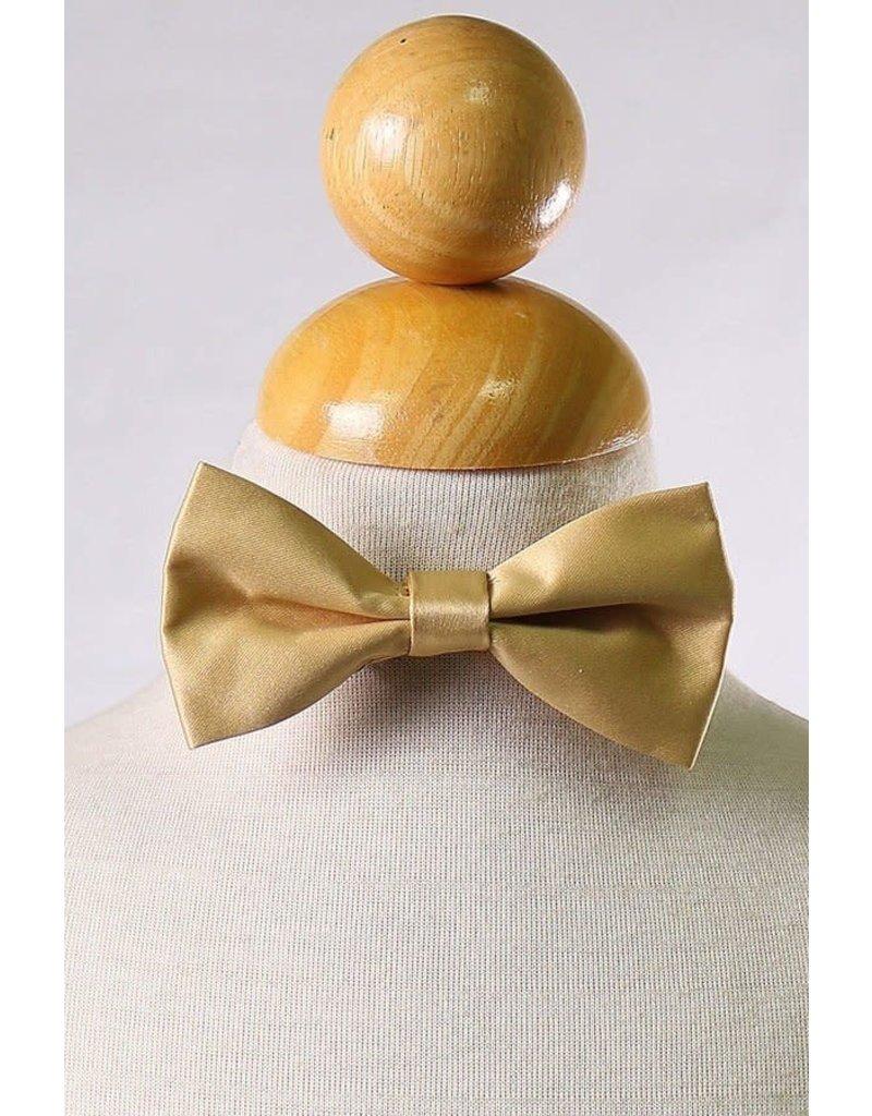 Calla Collection USA INC. Calla Collection Boy's Polyester Satin Bow Tie bowtie-b, Color: Gold