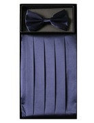 Calla Collection USA INC. Calla Collection Men's Silk Cummerbund & Bow Tie Set cb-m, Color: Navy
