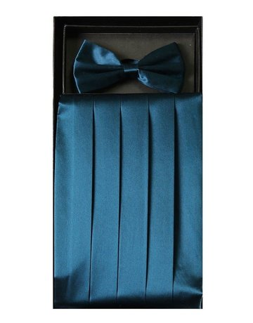 Calla Collection USA INC. Calla Collection Men's Silk Cummerbund & Bow Tie Set cb-m, Color: Royal Blue