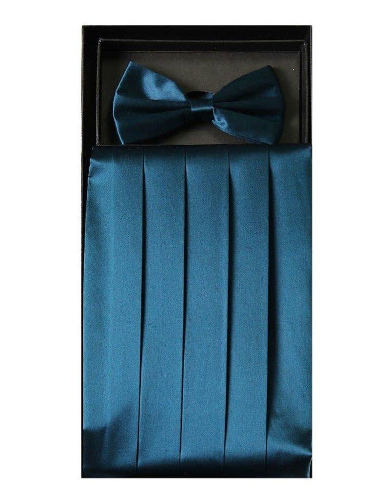 Calla Collection USA INC. Calla Collection Men's Silk Cummerbund & Bow Tie Set cb-m, Color: Royal Blue