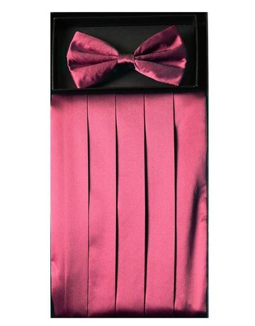 Calla Collection USA INC. Calla Collection Men's Silk Cummerbund & Bow Tie Set cb-m, Color: Purple