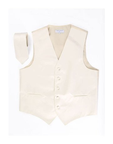 Calla Collection USA INC. MEN'S POLYESTER VEST & NECK TIE SET Beige XS vs1010men
