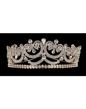 My Fashion My Fashion Tiara YJT733, Color: Gold w/ iridescent gems