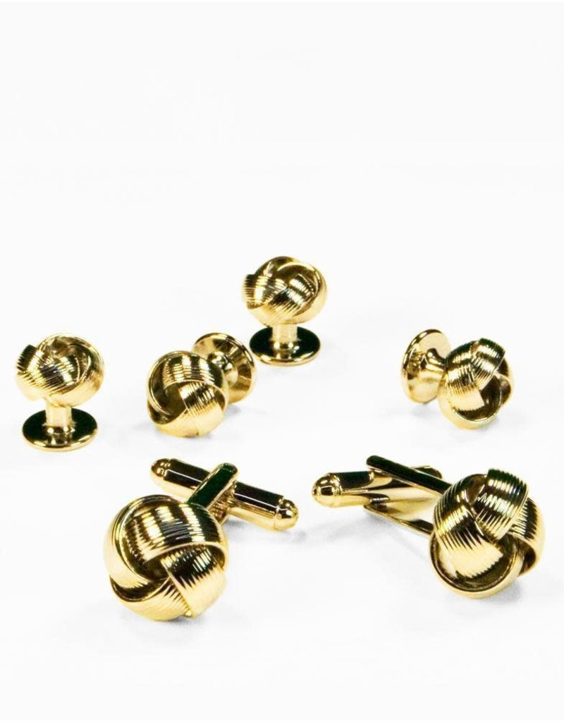 Cardi International Cardi International Loveknot Cuff Link Set, Color: Gold