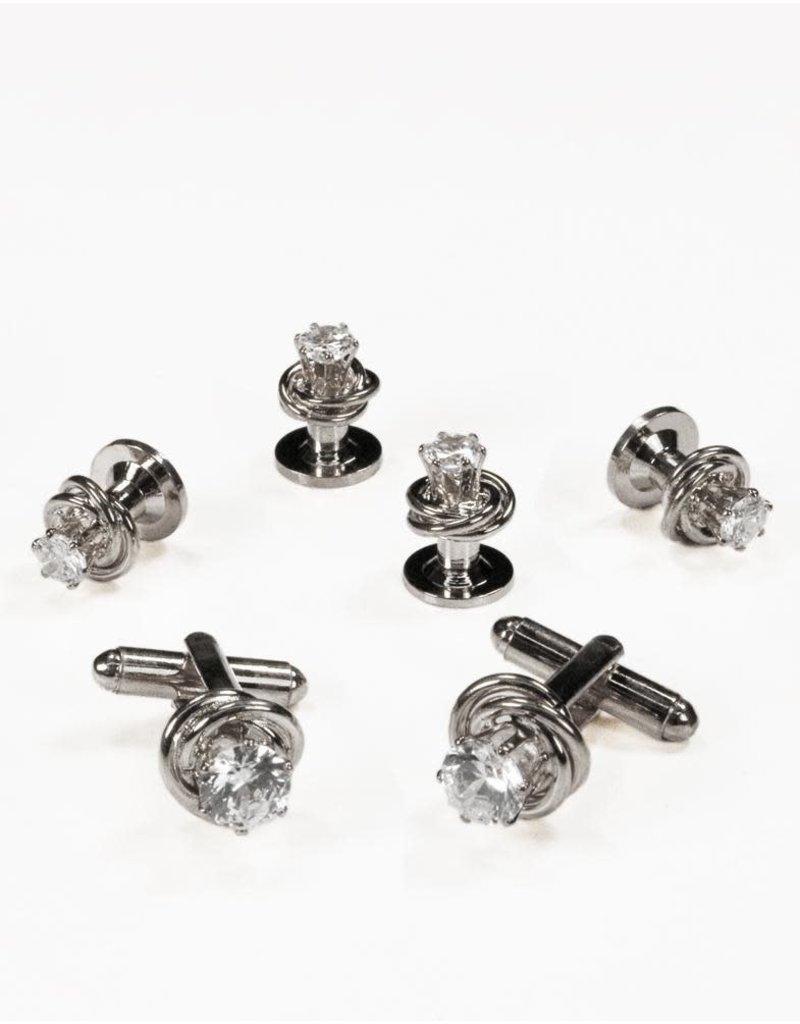 Cardi International Cardi International Crystal in Loveknot, Color: Silver