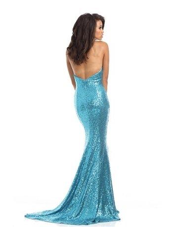 Johnathan Kayne Johnathan Kayne Prom Seq 461, Color: Turquoise, Size: 10