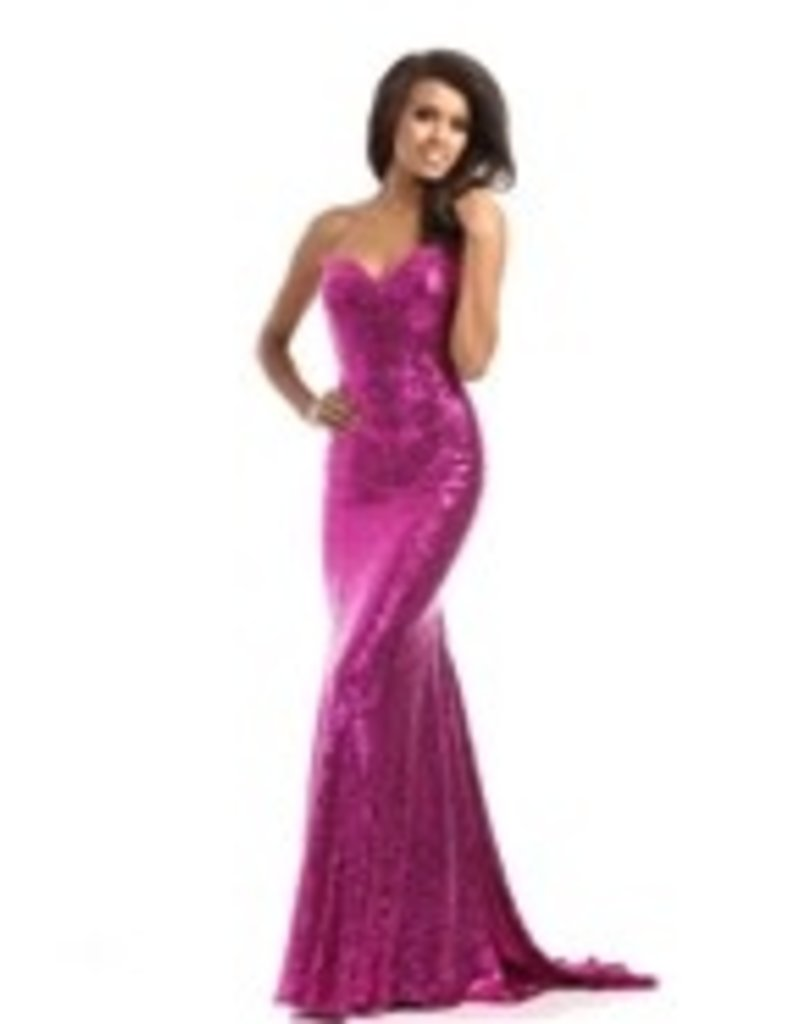 Clarisse PROM FLARE KNIT RASPBERRY 12 CLA-3513
