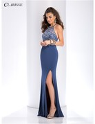Clarisse Clarisse Prom Flare Knit 3513, Color: Marine Blue, Size: 8