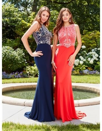 Clarisse Clarisse Prom Embellished 3075, Color: Watermelon, Size: 10