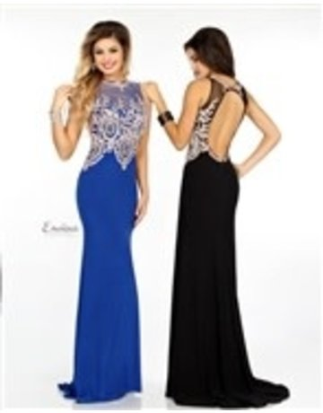 Envious Envious Prom Beaded Jersey 18105, Color: Black, Size: 16
