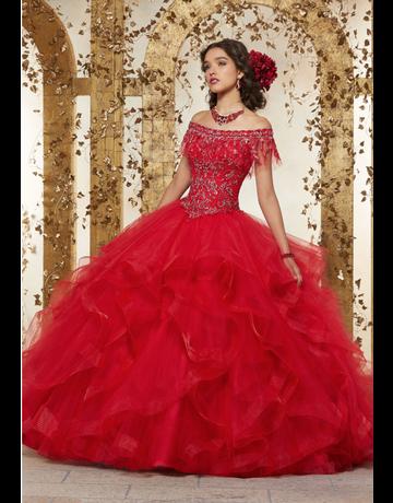 Vizcaya Mori Lee Vizcaya 89237, Color: Scarlet, Size: 12