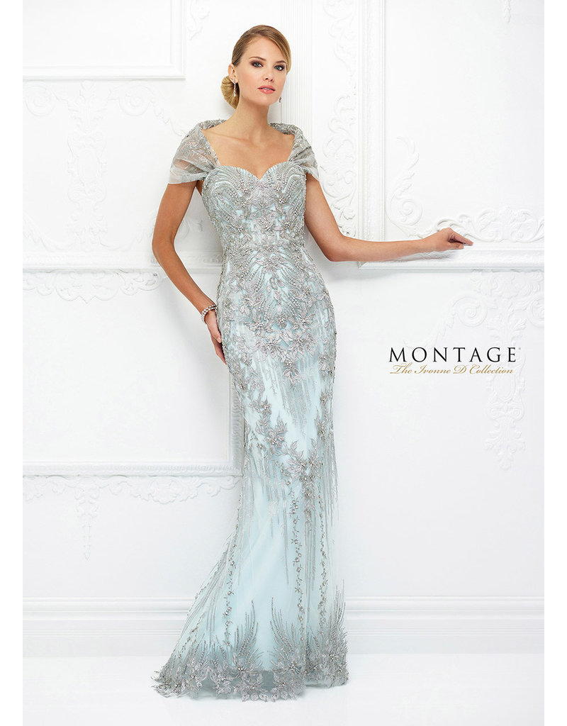 Mon Cheri Mon Cheri Bridals Ivonne D 118D04, Color: Ice/Water, Size: 14