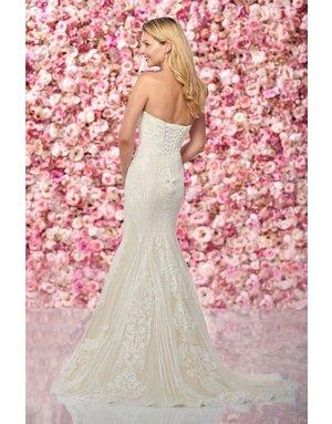 Mon Cheri Mon Cheri Bridals Enchanting 219132, Color: Diamond White/Nude, Size: 10