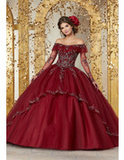 Vizcaya Mori Lee 89235, Color: Sangria, Size: 18
