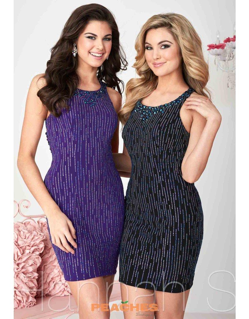 Hannah S Hanna's Dress Jersey HAN-27117 Color: Black Size: 10