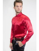 Barabas Barabas B302 silk shirt, Color: Red, size: small