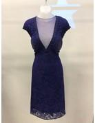 Abby Paris Abby Paris Dress Sheer Mesh 93011, Color: Purple, Size: 10