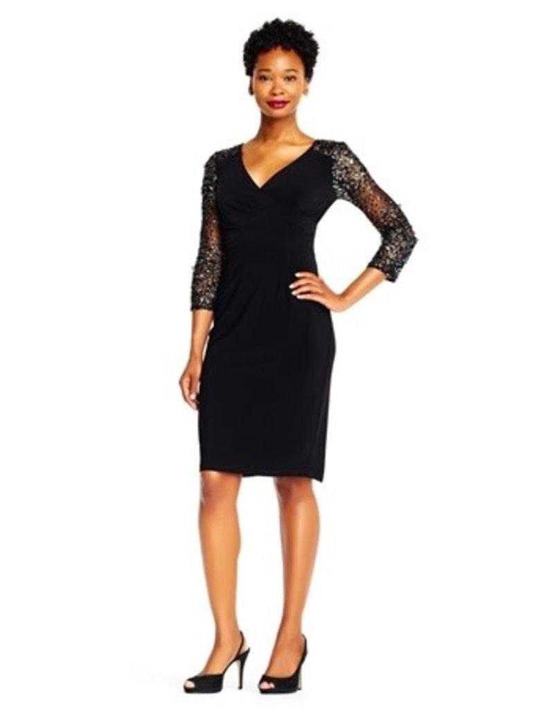 Adriana Papell Adrianna Papell Dress Beaded ap1e201493, Color: Black, Size: 4