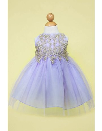 Calla Collection USA INC. Calla Collection Design Bodice w Tulle Skirt B-778, Color: lilac/gold, Size: 6M