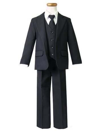 Calla Collection USA INC. Calla Collection 5003 Boy's 5pc 2 Button Suit Size: 14 Color: Black