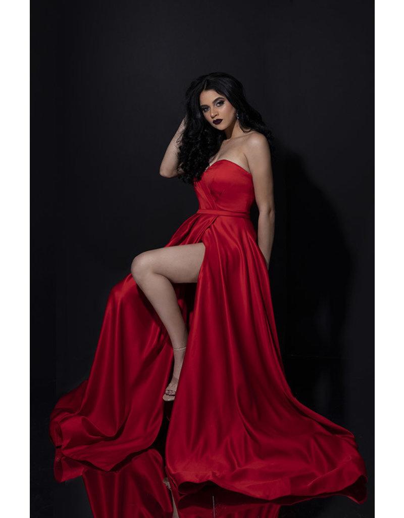 Terani Couture Terani Couture 1911P8179, Color: Red, Size: 10