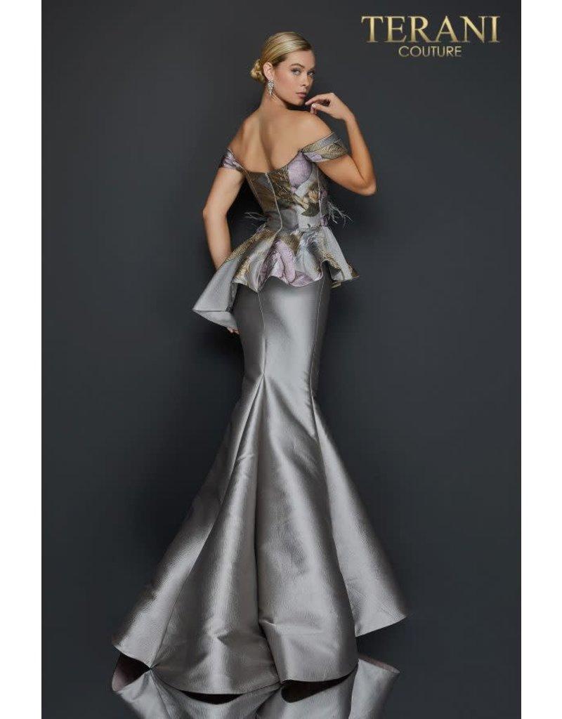Terani Couture Terani 2011E2425 Color: Taupe Rose, Size: 14