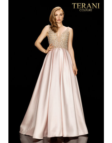 Terani Couture Terani 2011P1094 Color: Blush, Size: 8