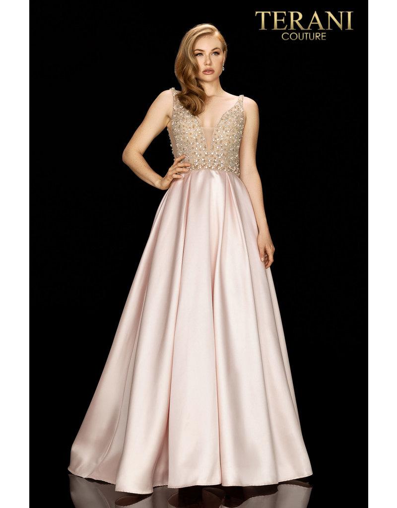 Terani Couture Terani 2011P1094 Color: Blush, Size: 8