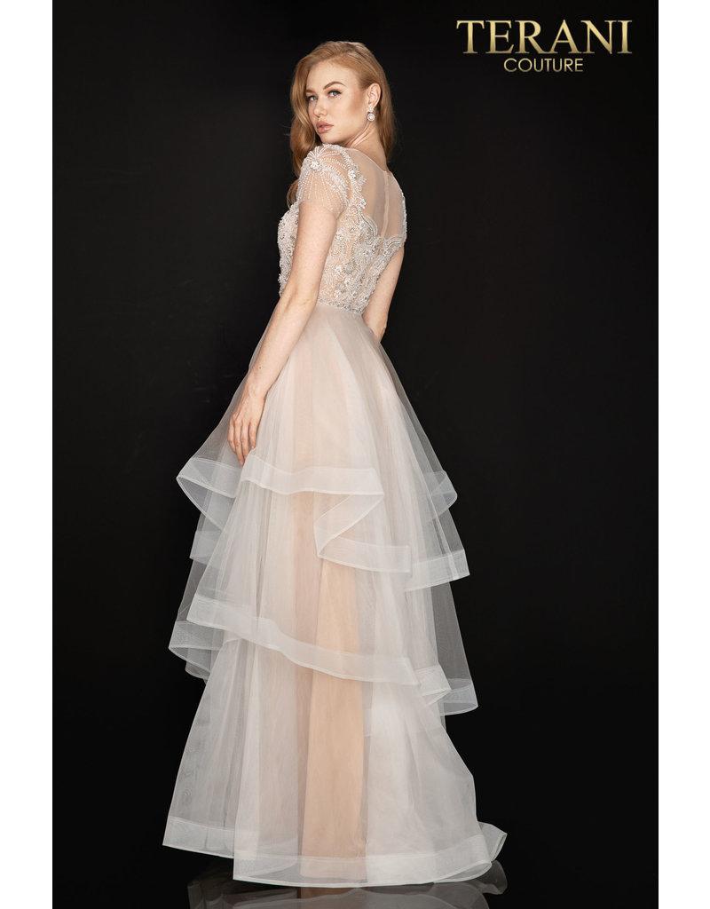 Terani Couture Terani 2011P1175 Color: Ivory Nude, Size: 10