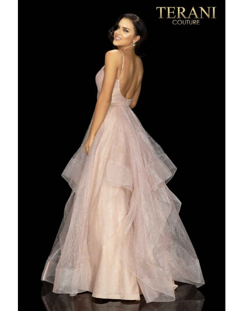 Terani Couture Terani 2011P1213 Color: Blush, Size: 10