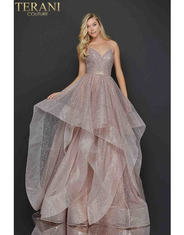 Terani Couture Terani 2011P1214 Color: Rose Gold, Size: 10
