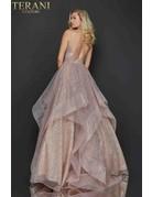Terani Couture Terani 2011P1214 Color: Rose Gold, Size: 10