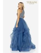 Terani Couture Terani 2011P1217 Color: Blue, Size: 6
