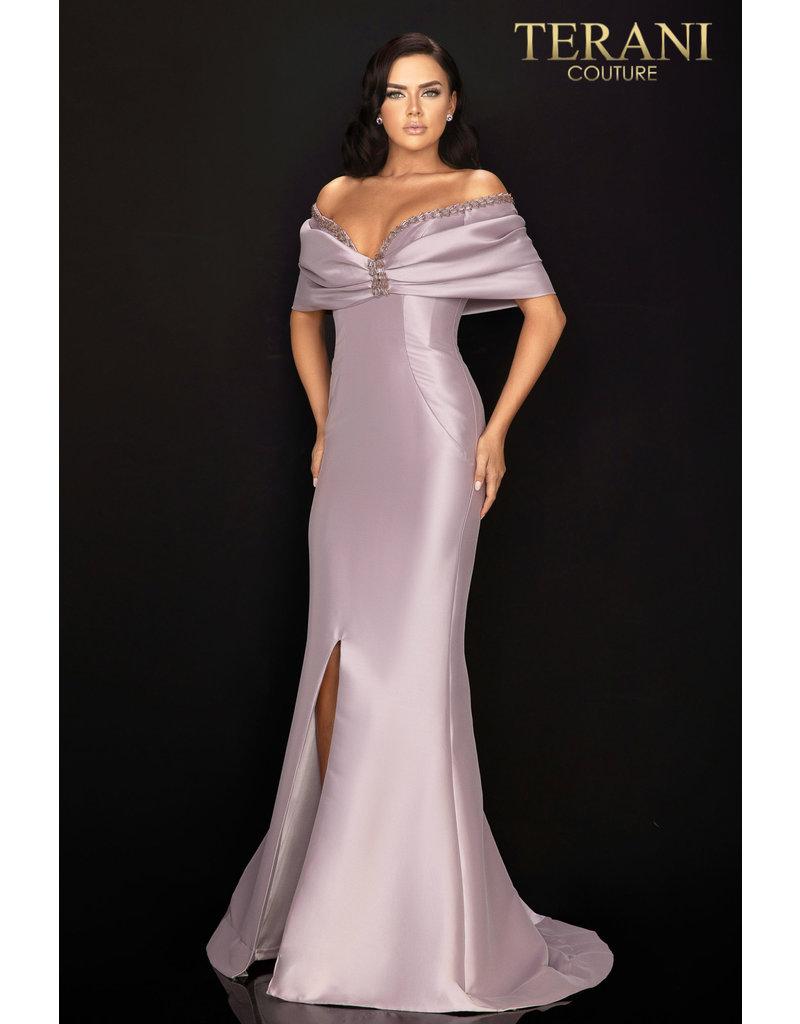 Terani Couture Terani Couture 2011M2138 color: Eggplant, Size: 10