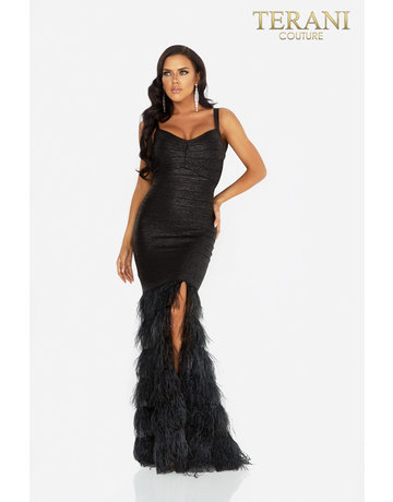 Terani Couture Terani Couture 2011P1102 color: Black/Silver, Size: 8
