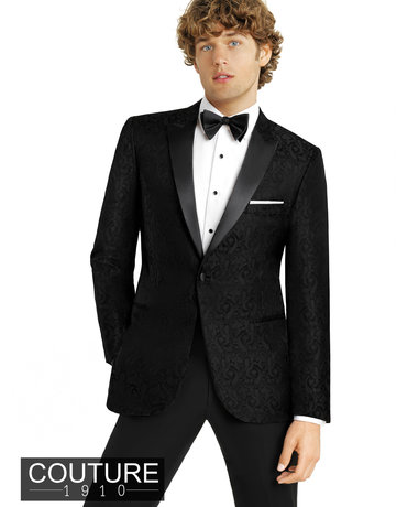 fabian couture UF-1B Paisley color: black, Size 38R